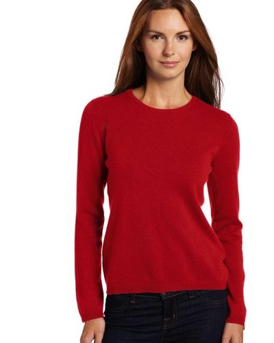 Red Crewneck Sweater For Women
