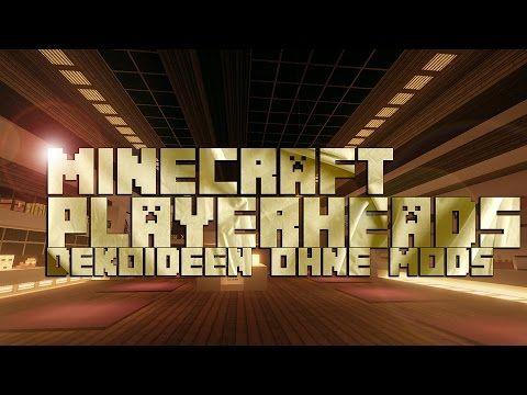 Hey Ihr Lieben Heute Geht Es Um Die PlayerheadsSpielerköpfe In - Minecraft spielerkopfe erstellen