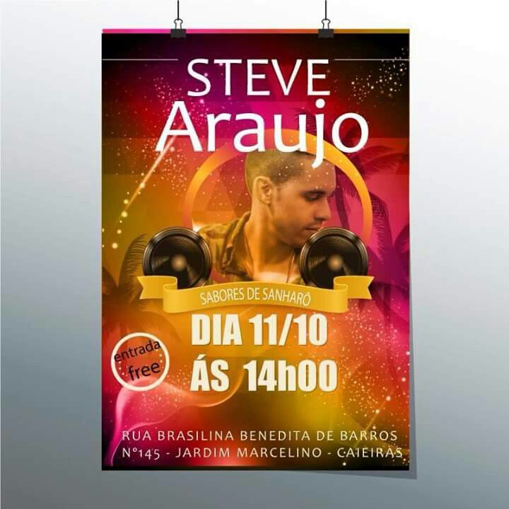 Flyer criado para um Show que foi realizado em Caieiras- SP