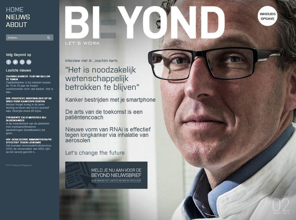 Beyond Magazine on Magazine, Twitter