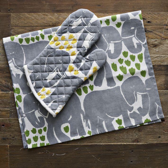 Oven mitts & elephants