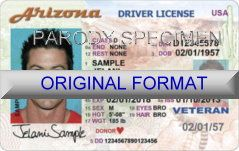 Designs Drivers Arizona Cards Format Fake Id… New Id License Scannable In Software Driver Card Hologram Arizon 2019… Novelty Templates