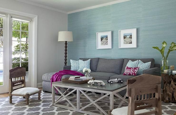 Best Aqua Blue And Charcoal Gray Living Room Features An Accent 640 x 480
