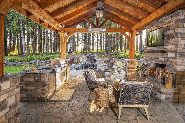 Rustic Landscape Design | Outdoor living, Outdoor living rooms on Outdoor Living And Landscapes id=18883