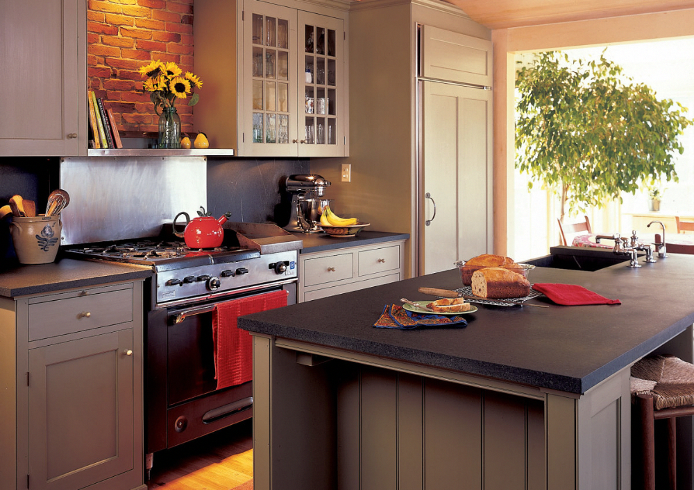 Take A Look At This Significant Image In Order To Look At The Shown Knowledge On Small Kitche Slate Kitchen Countertops Slate Kitchen Small Kitchen Renovations