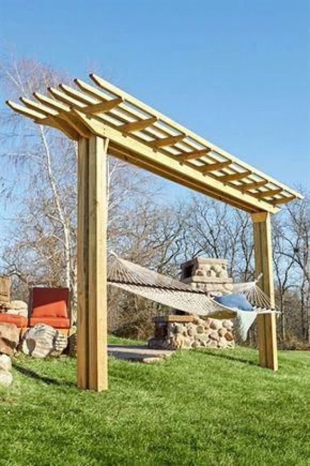 Doublefeature Pergola woodworking plan. By day an easy