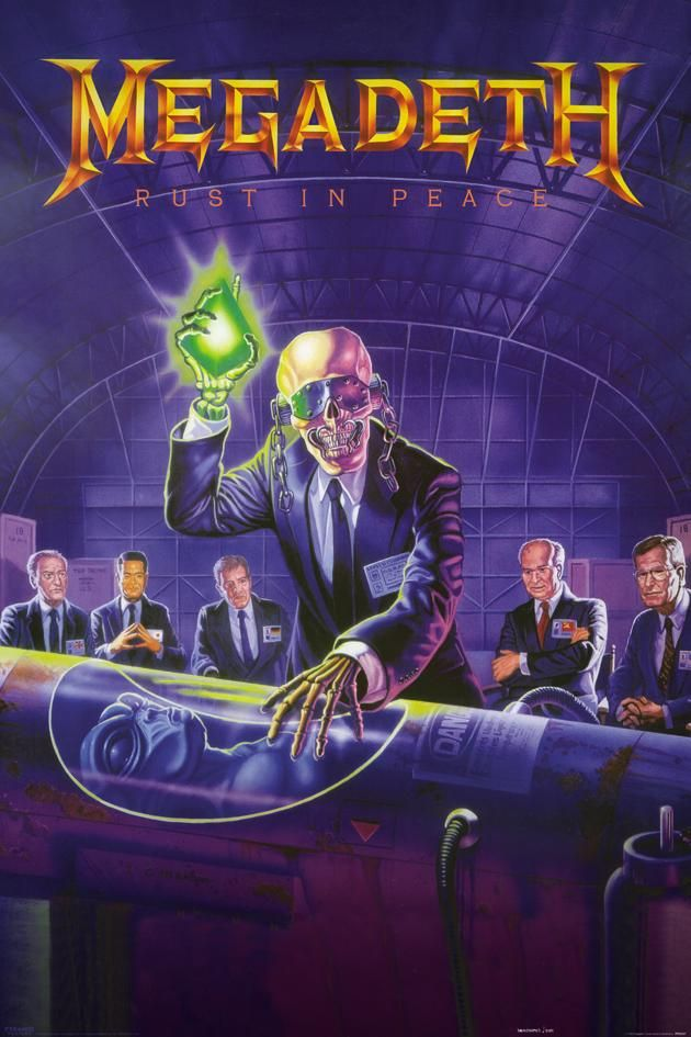 Megadeth Posters Megadeth Rust In Peace Poster Pp30337 Panic Heavy Metal Music Rock Band Posters Music Poster