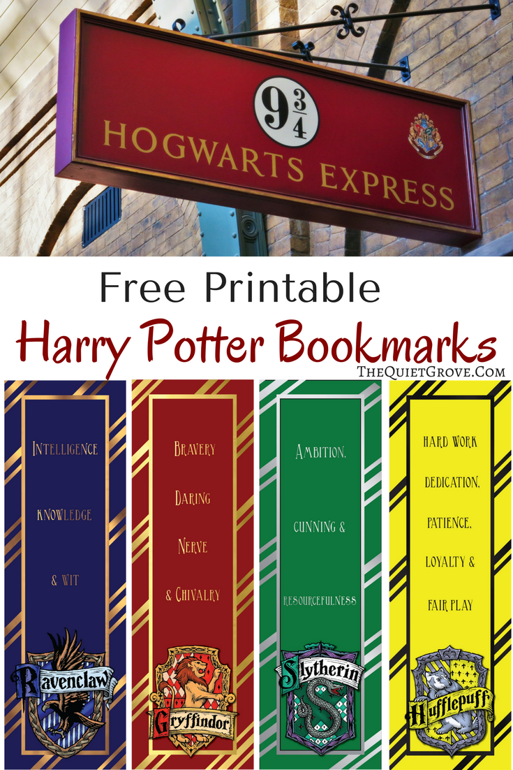It is a photo of Universal Free Printable Harry Potter Bookmarks