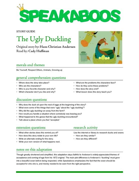1000+ images about Prek/K- ugly duckling on Pinterest | Ugly ...