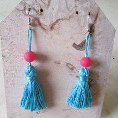 Boucles d'oreilles pompon
