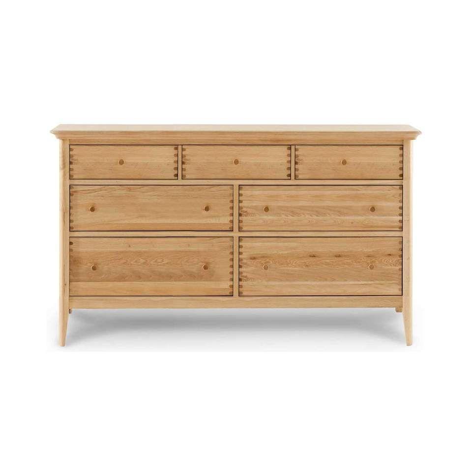 Willis Gambier Spirit 7drw Dresser Low Dresser Oak Bedroom Furniture Oak Bedroom
