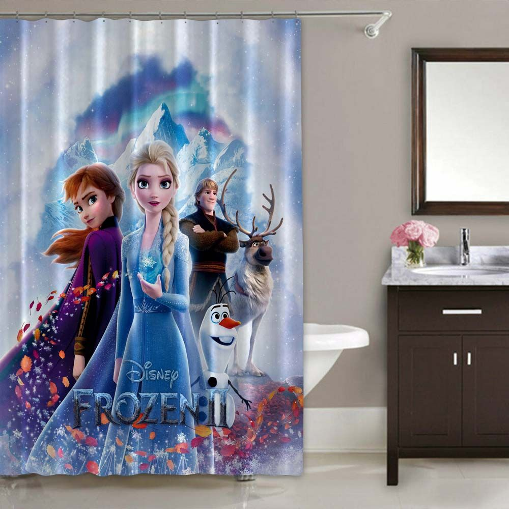 Rare Frozen 2 Queen Elsa Anna Olaf Kristoff Disney Movie Shower