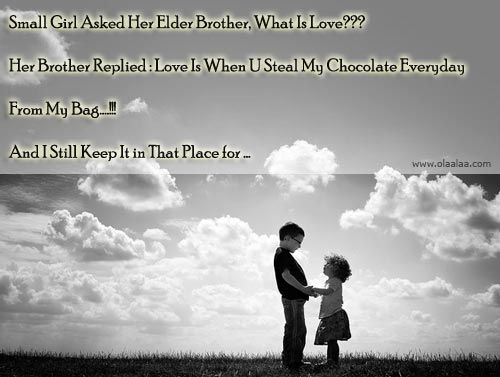 poem about brother and sister relationship on photo