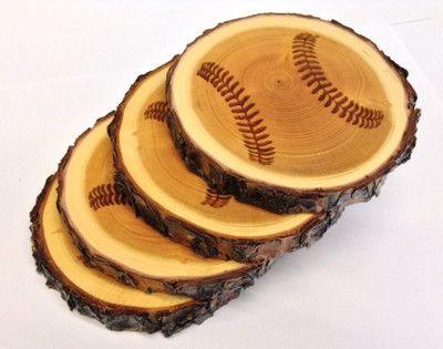 Baseball Coasters from Park City, Utah Made from reclaimed wood - Baseball Coasters From Park City, Utah Made From Reclaimed Wood