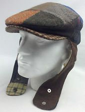 9b75b2a2099 HANNA HATS Patch Tweed Lugg Hat Flat Cap Wool Handmade in IRELAND Mens Ear  Flap