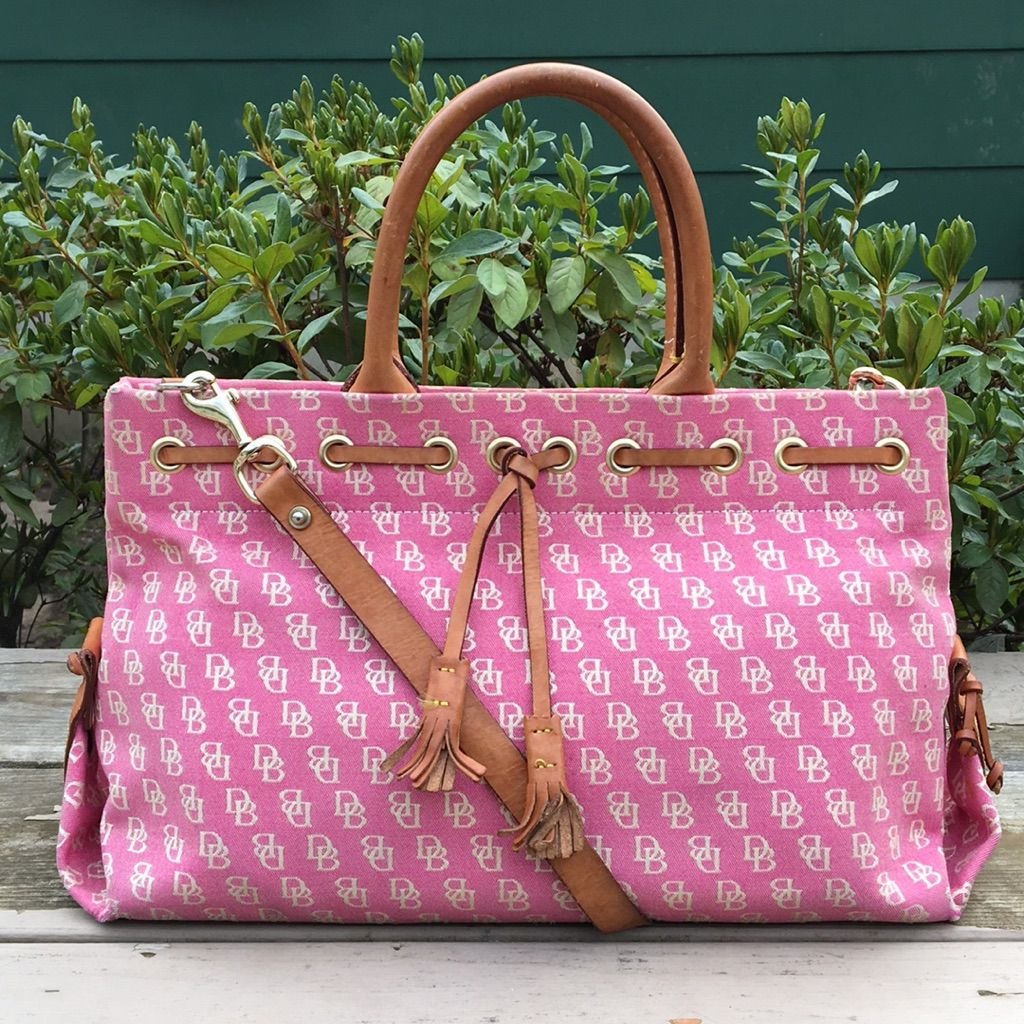 Dooney & Bourke Large Pink Logo Tassel Tote | Products | Pinterest ...