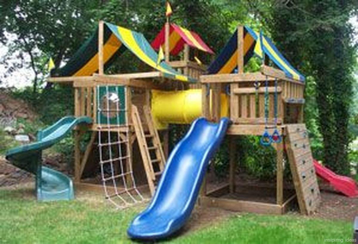 140+ FUN DIY PLAYGROUND IDEAS   Diy playground, Swing set ...