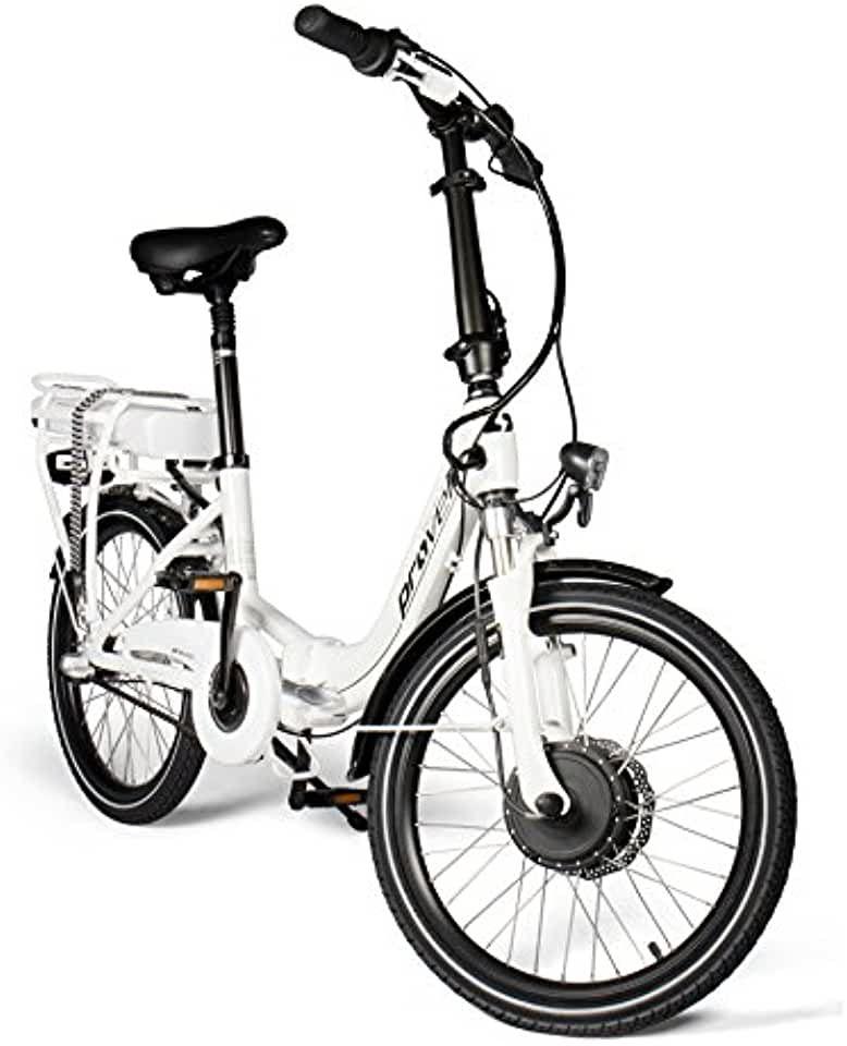 E Bike Faltrad In Weiss Unisex Elektrofahrrad Mit 20 Zoll 50 8