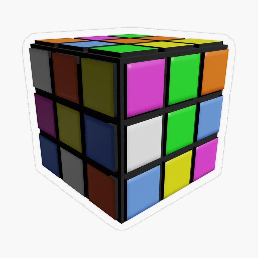 3d Rubik S Cube Transparent Sticker By 3di In 2021 Rubiks Cube Cube Transparent Stickers