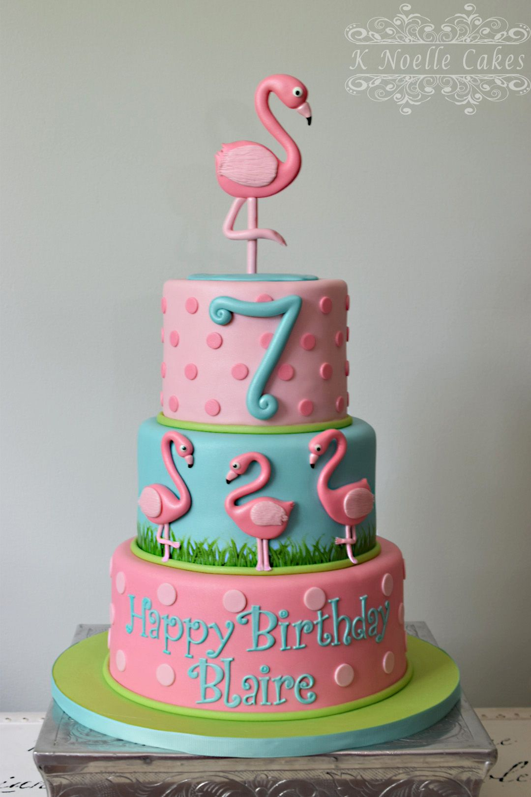 Amazing Flamingo Theme Cake By K Noelle Cakes Flamingo Birthday Cake Personalised Birthday Cards Bromeletsinfo