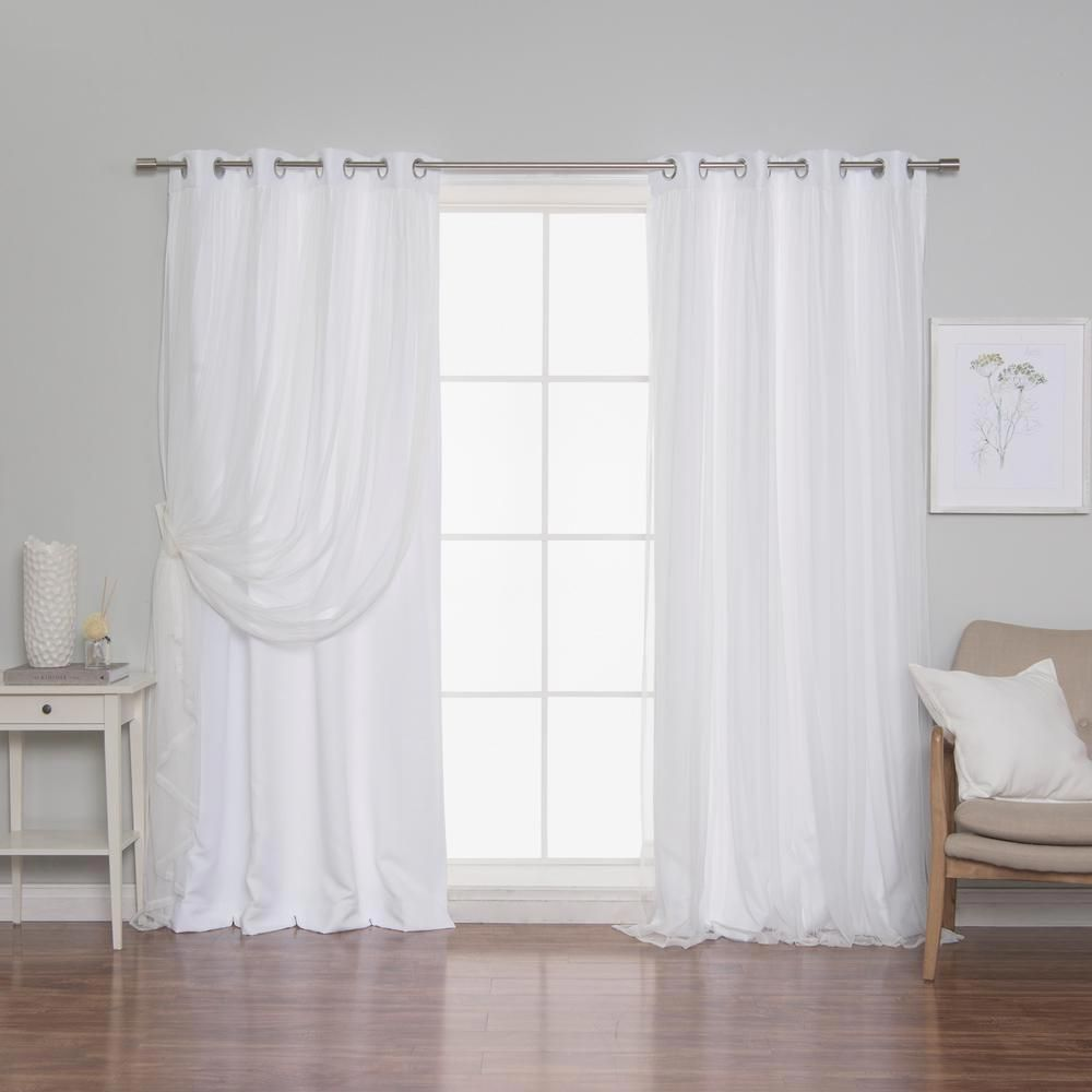 Best Home Fashion White 108 In L Marry Me Lace Overlay Room
