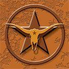 Western Accent Tile - Cowboy, Western, Texas, Old West, decorative ceramic tile for kitchen backsplash or bathroom shower | Designers Choice Tile