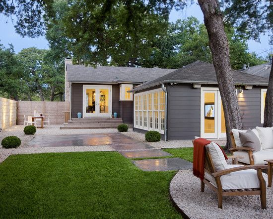 Gray Modern House Exterior Paint Color Schemes Ideas for Small