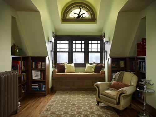 Beautiful Tucked Away Library Area With A Perfect Window