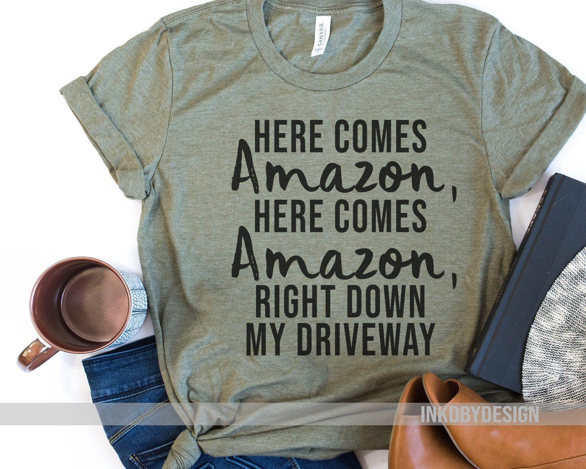 Amazon sayings amazon addict funny amazon shirt womens shirts
