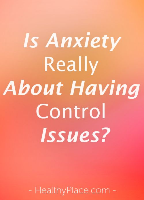overcoming control issues