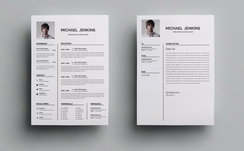 Michel Word Resume Template 71486 With Images Resume Template