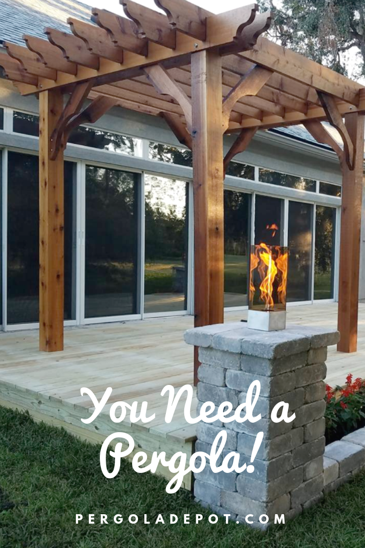 You know you want one! Available in over 90 different sizes with multiple  options to choose from to make it all your own. Visit Pergola Depot now. - Big Kahuna Pergola Kit In 2019 Customer Pergola Photos Pergola
