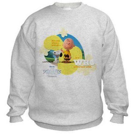 859184167 CafePress Travel - Snoopy and Charlie Brown Kids' Sweatshirt, Gray ...