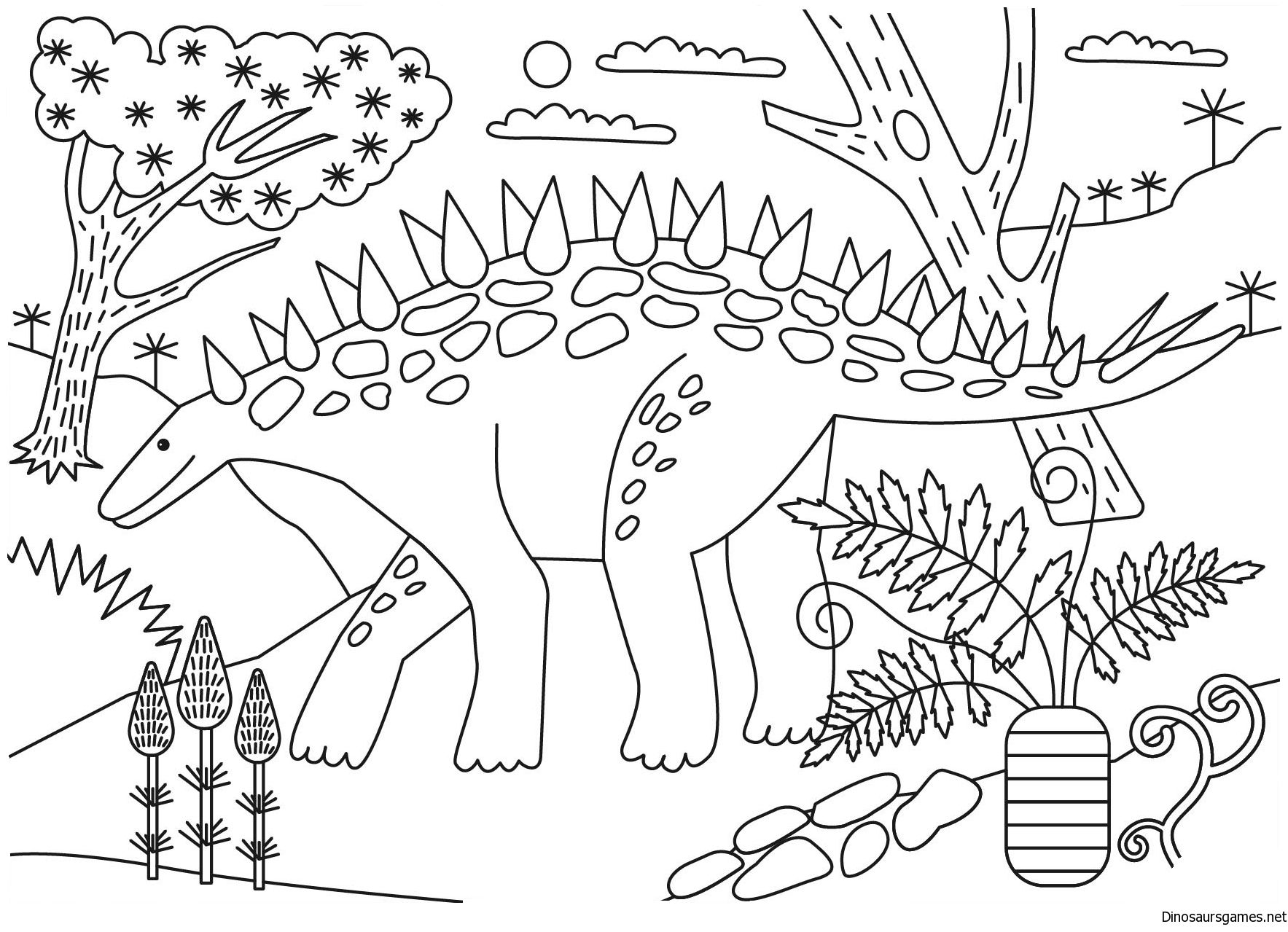Giant Plesiosaurus Coloring Page