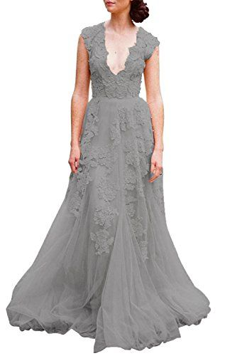 ASA Bridal Womens Vintage Cap Sleeve Lace A Line Wedding Dresses Gowns Dark Gray 10 Read More Reviews Of The Product By Visiting Link On