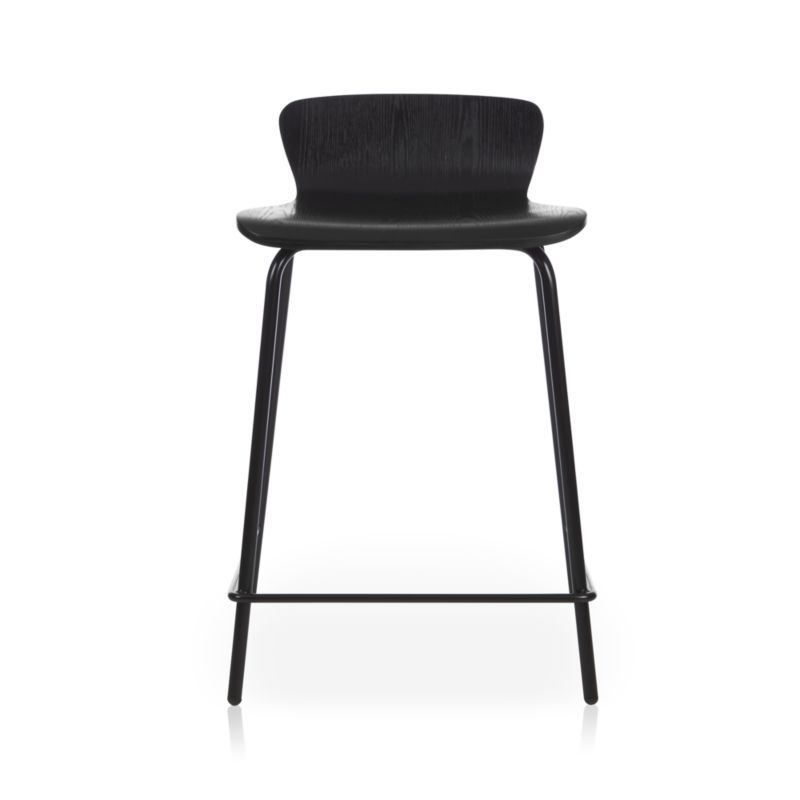 Felix Black Counter Stool Crate And Barrel Black Counter