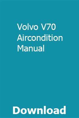 volvo v70 workshop manual free download