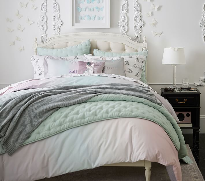 Best Blythe Upholstered Without Footboard Bed Ombre Duvet 400 x 300
