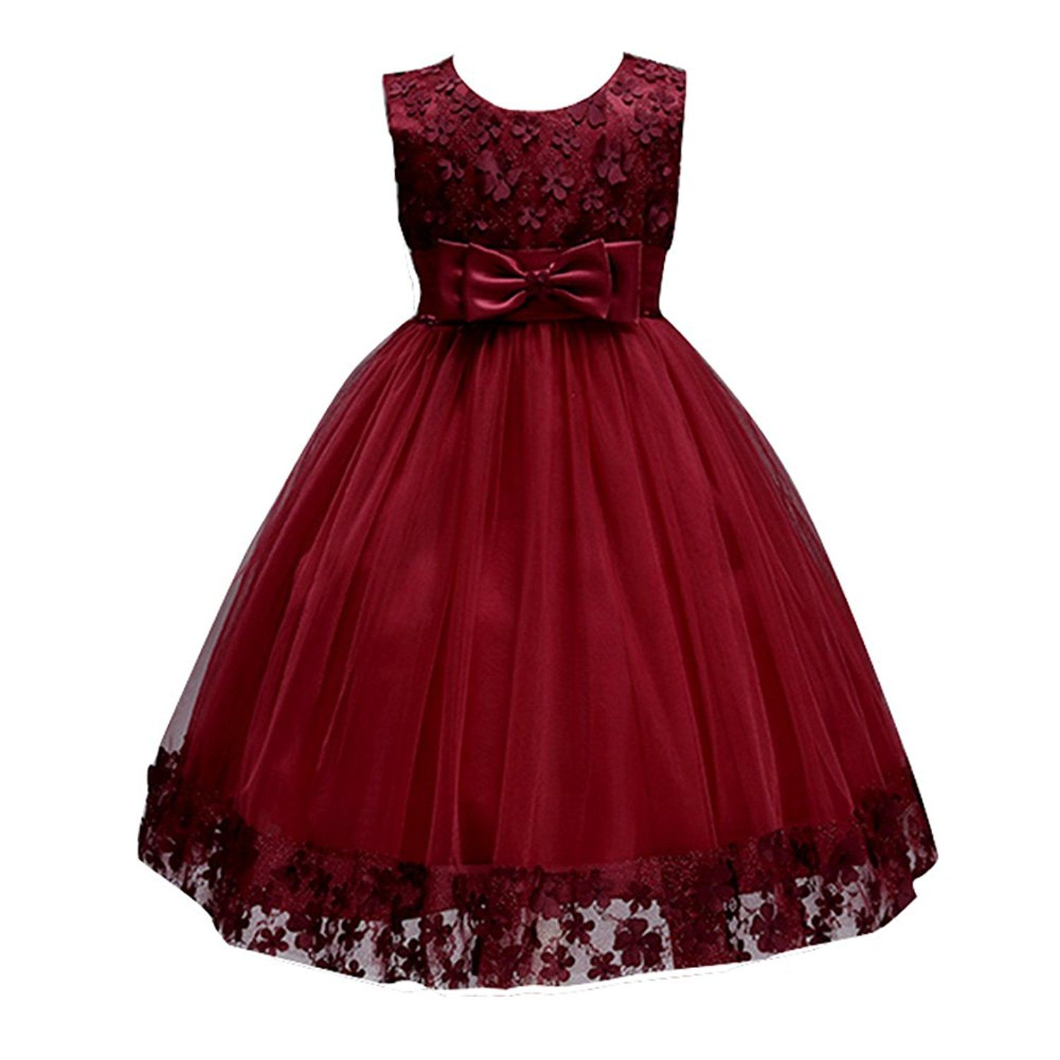 Wedding Website Url Ideas: KISSOURBABY 1-10T Girls Elegant Ball Gown Lace Dress For