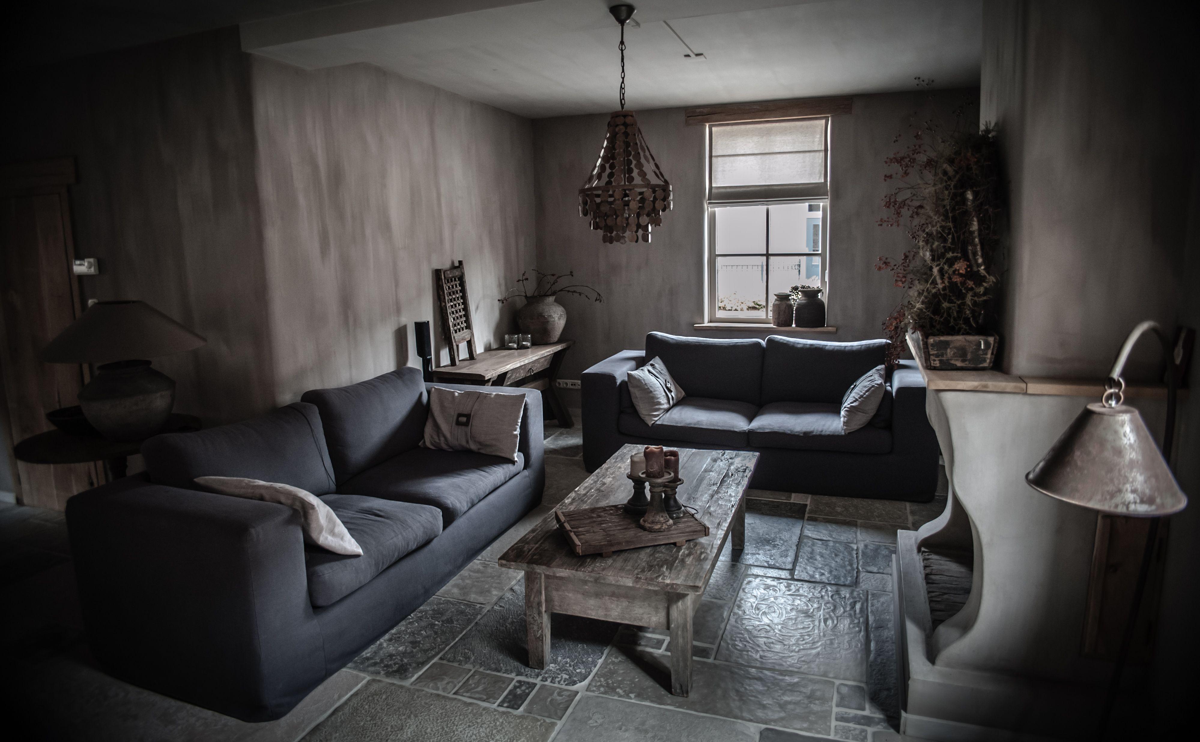 Landelijke woonkamer in een hoffz stijl home home for Woonkamer style