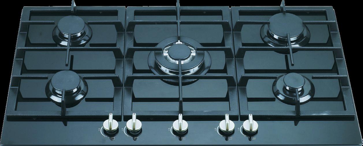 Penta G02 Built In 5 Burner Glass Gas Hob High Power Work Burner Suitable For Indian Cooking Nagold By Hafel Built In Kitchen Appliances Hafele Divider Wall
