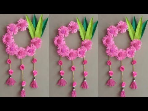 DIY Wall Hanging Decoration Ideas | Paper Flowers Wall Hanging Craft | Paper Craft | Handmade Thing #paperflowersdiy