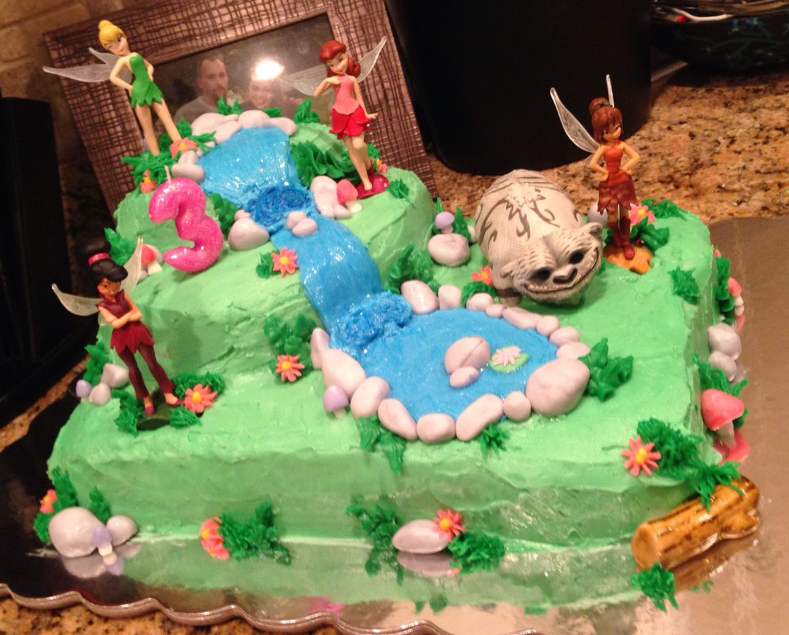 Tinkerbell and the Legend of the Neverbeast birthday cake I made