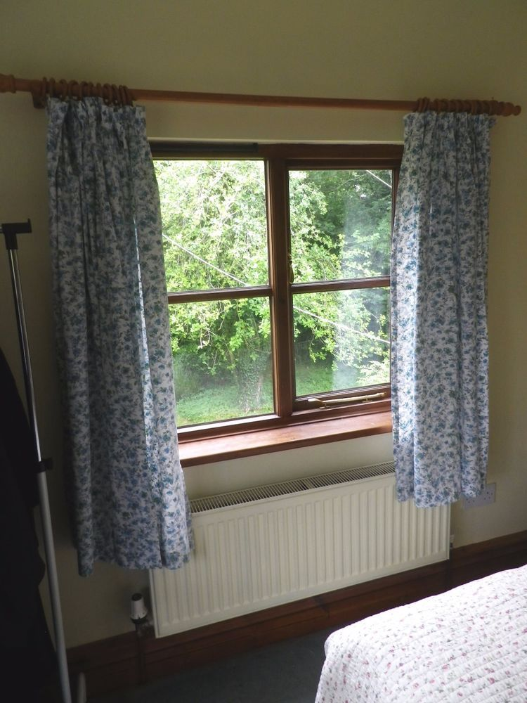 Vintage Jonelle Duracolour Cotton Curtains Emma Design Blue Floral On White JohnLewis
