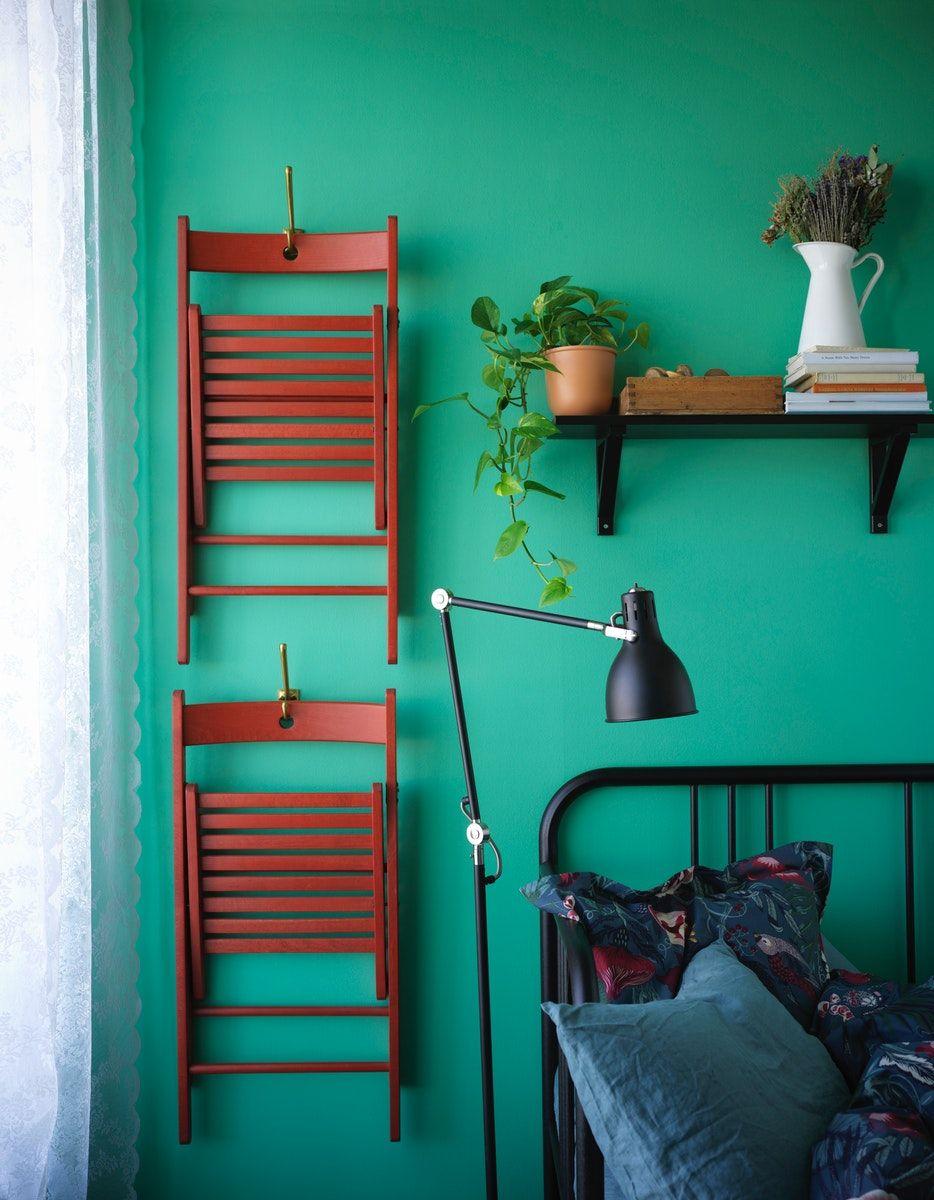 TERJE Folding chair red Flexible furniture, Ikea small