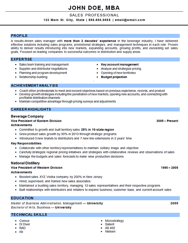 Outside Sales Resume Examples Sales Resume Examples Sales Resume