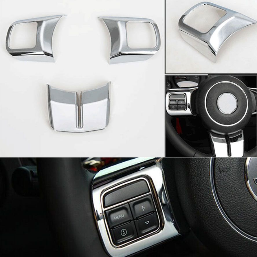ABS Chrome Car Interior Steering Wheel Cover Trim Styling