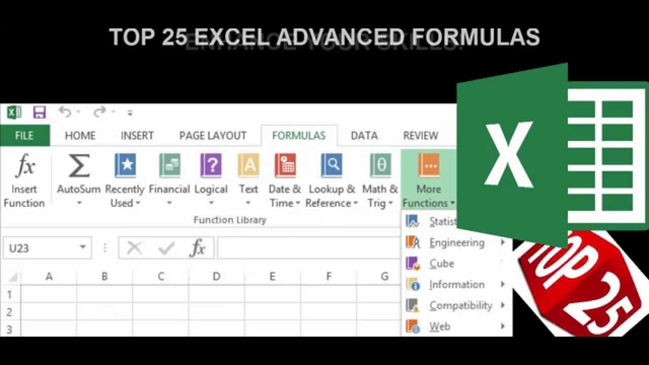 Top 20 Microsoft Excel Advanced Formulas Hands on Tutorial ...