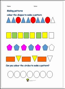 pattern activity worksheet ks1 math worksheet for kids free print at. Black Bedroom Furniture Sets. Home Design Ideas
