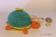 Tortuga Amigurumi - Patrón Gratis en Español aquí: http://ganchilloalfresco.blogspot.com.es/2013/05/amigurumi-tortuga-de-ganchillo.html